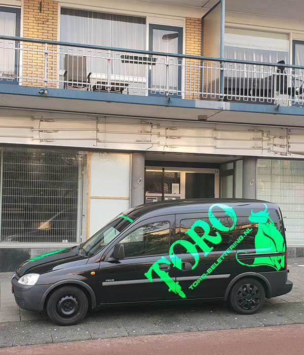 Auto - busje toro belettering - Toro Belettering