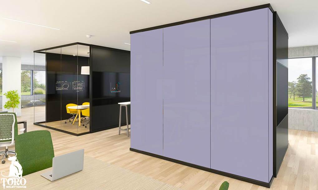 Slimme Folie - cube kantoor schakelbare folie aan - Toro Belettering