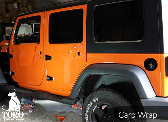 oranje-jeep-carwrap