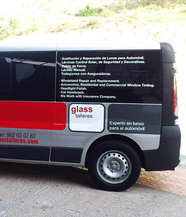 Auto - werkbus raam tint - Toro Belettering